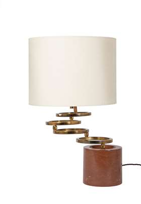Swivelling ring lamp