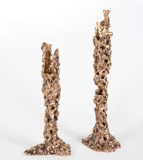 Pair of Selene candle holders
